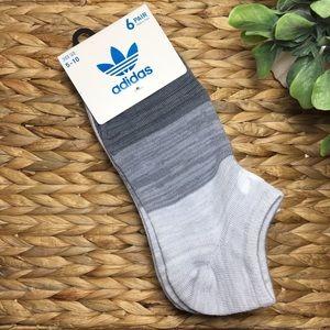 🆕 Adidas Women's No Show Socks 6 Pairs